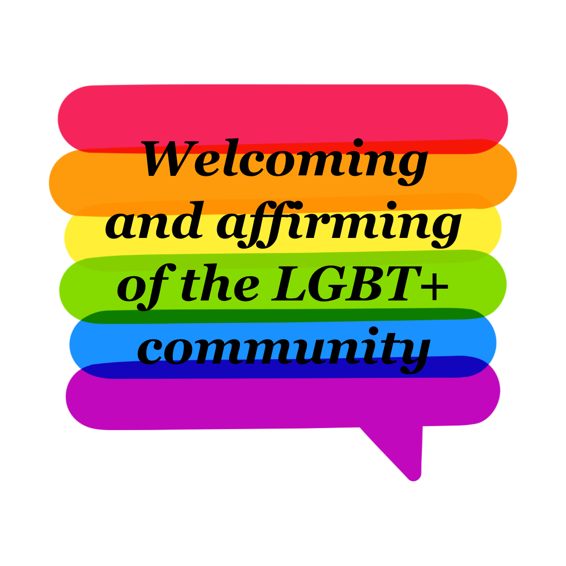 Welcoming and affirming of the LGBT+ community